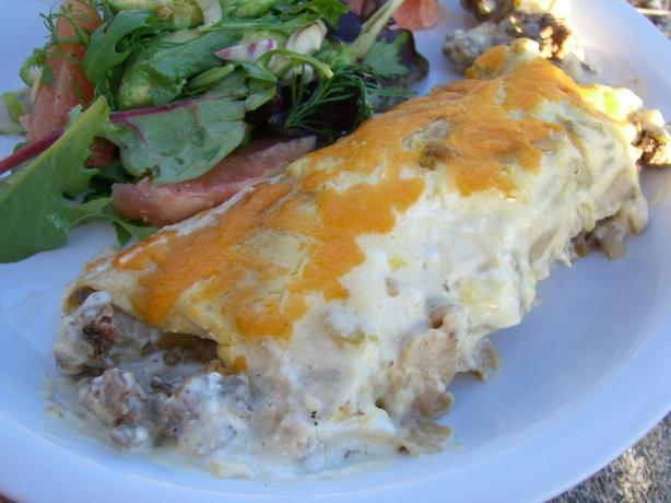 Sour Cream Beef Enchiladas. Photo by Chef*Lee