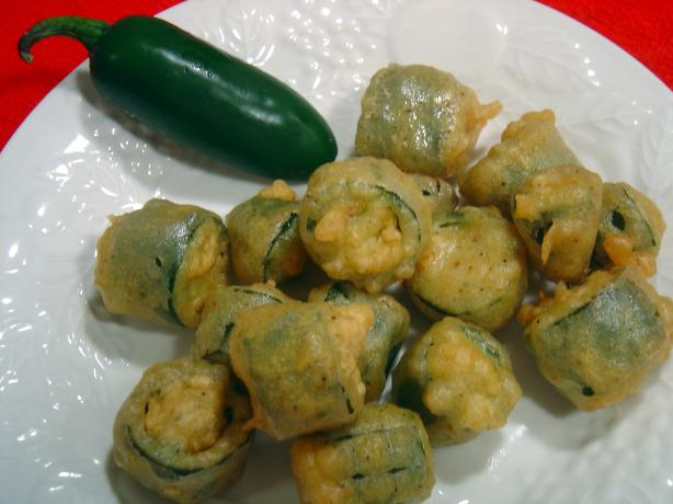 Bean-Stuffed Deep Fried Jalapenos With Salsa Roja Recipe ...