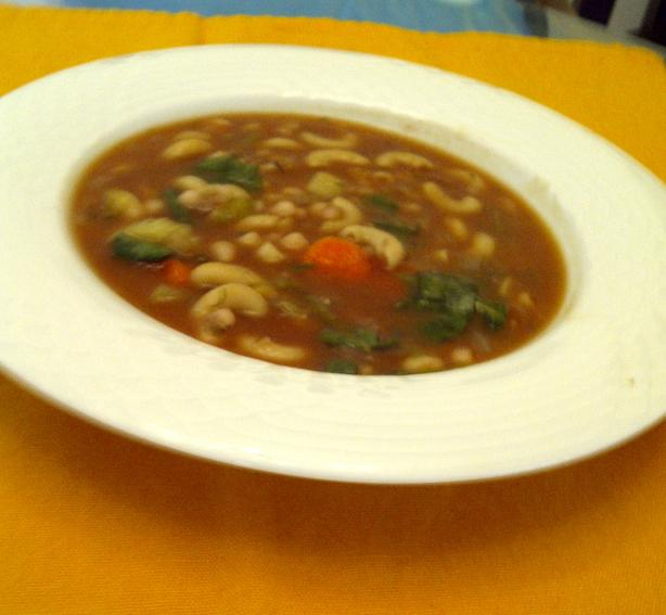 Hearty Vegan Navy Bean Soup. Photo by emilyv