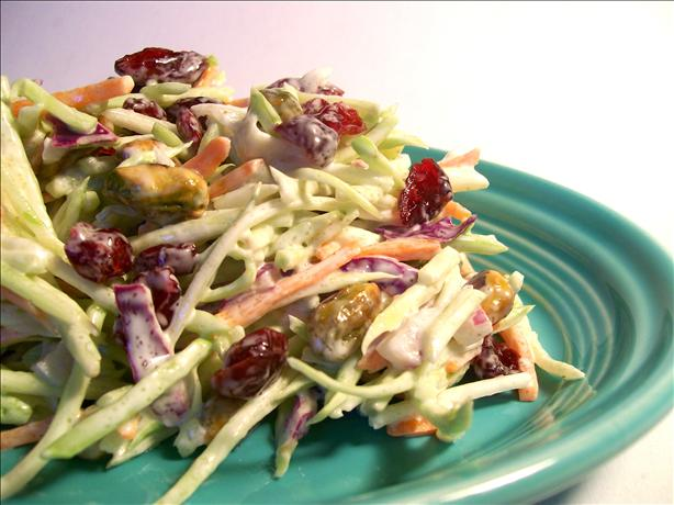 Easy Broccoli-Cranberry Holiday Slaw. Photo by Sharon123
