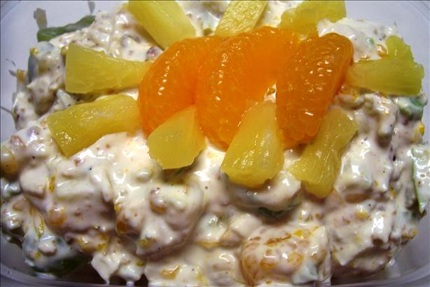 College Student&#39;s Brilliant Doctored Chicken Fruit Salad. Photo by HeatherFeather