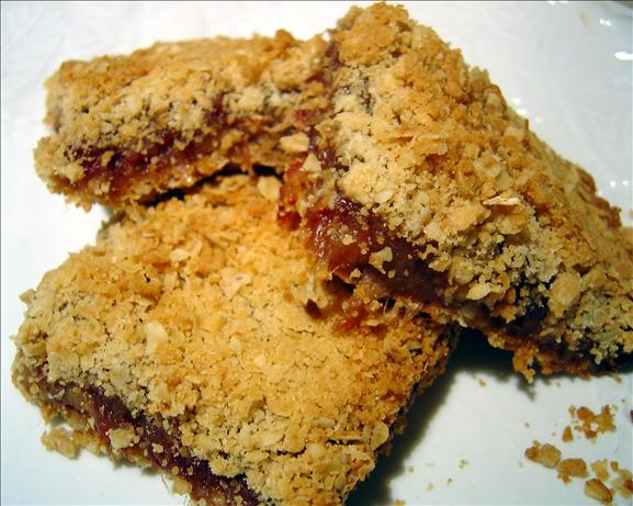 Date Filled Oatmeal Bars. Photo by :(