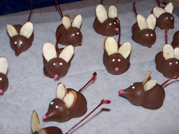 Chocolate-Covered Cherry Mice. Photo by KK - Chef #426156