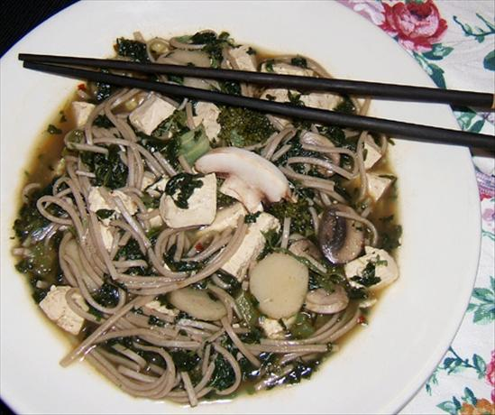 Dofu Cai Mian (Tofu Vegetable Noodle Soup, Two Versions). Photo by Kathy228