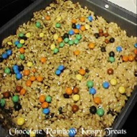 Chocolate Rainbow Krispies Treats. Photo by HOUSEMANAGER (Charlene)