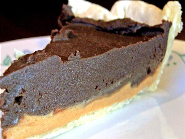 Dark, Rich, Creamy, Dense Chocolate Peanut Butter Pie!. Photo by Rita~