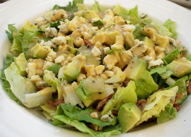 Blue Cheese-Pecan-Avocado Salad With Honey Mustard Vinaigrette. Photo by *Parsley*