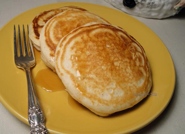 Eggnog Pancakes. Photo by Debbwl