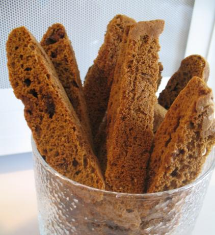 Coffee Chocolate Chip Biscotti   (Diabetic Adaptations Given). Photo by superblondieno2