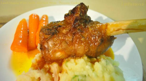 Lamb Shanks With Garlic and Port Wine - Pressure Cooker. Photo by I'mPat
