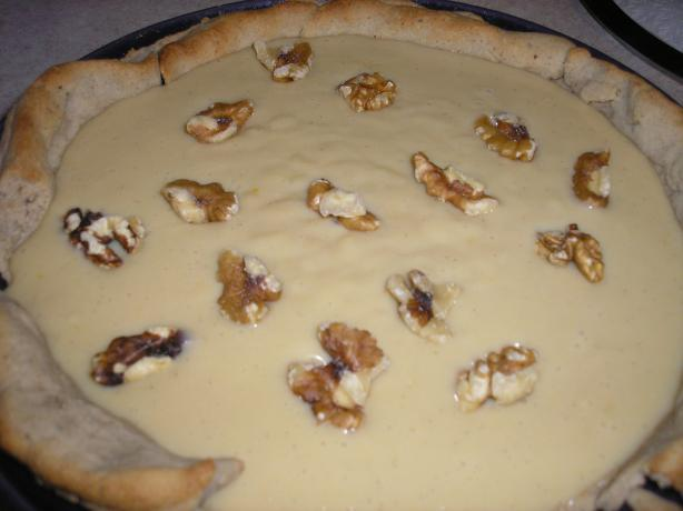 Butterscotch Cream Pie With a Walnut Crust. Photo by Queen Dana