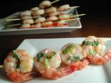 Lemon, Garlic and Basil Shrimp Skewers