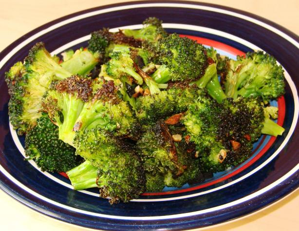 Garlic-Roasted Broccoli Drizzled With Balsamic Vinegar. Photo by Boomette