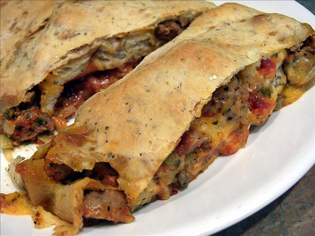 Italian Sausage Stromboli (Aka Sausage Bread). Photo by Derf