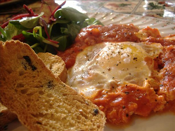 Tasty Tomato Fried Eggs. Photo by Tasty Tidbits