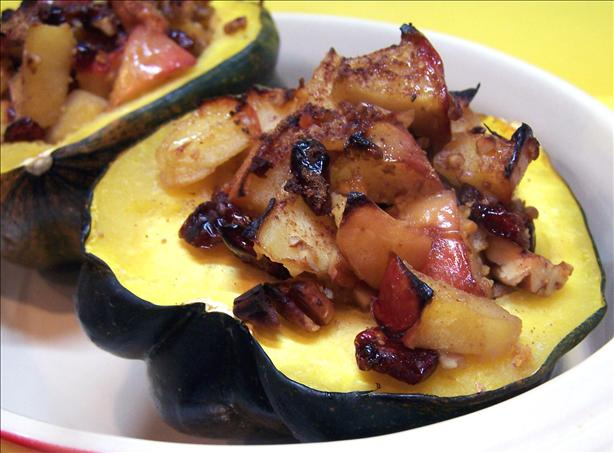Apple Stuffed Acorn Squash. Photo by PaulaG