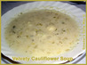 Low-Fat Velvety Cauliflower Soup (Kosher-Dairy). Recipe by Smadar's Sane Way ©