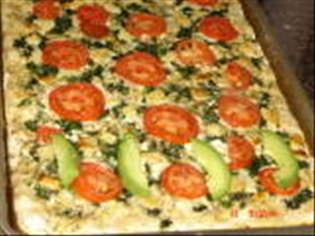 Spinach Feta Tomato Pizza. Photo by jaynine