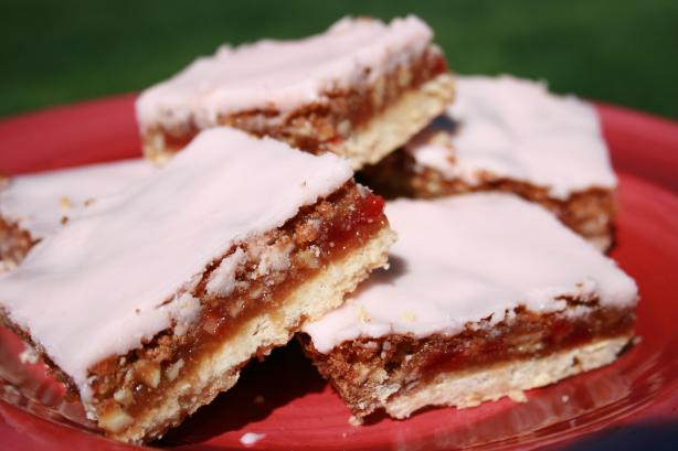 Cherry  Almond Bars. Photo by **Tinkerbell**