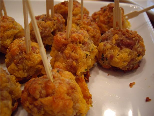 Make-Ahead Bisquick Sausage Ball Appetizers. Photo by Ruby15