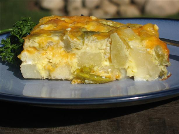 Cheesy Potato and Green Chili Breakfast Casserole. Photo by Charmie777