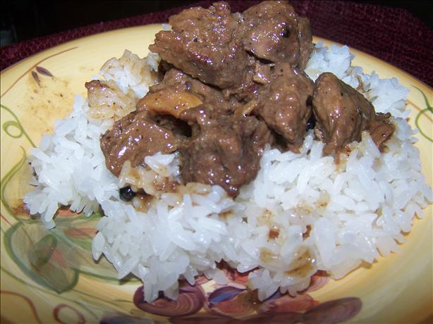 Filipino Beef Adobo With Coconut Milk. Photo by ChamoritaMomma