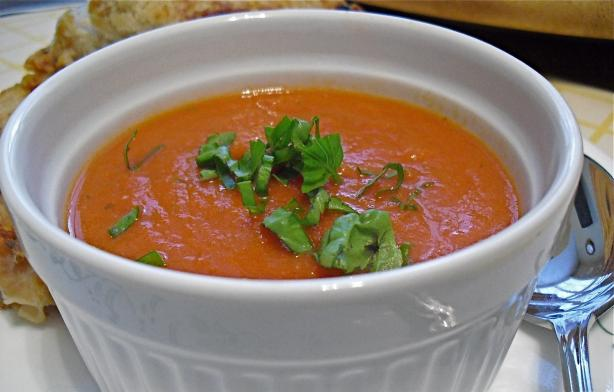 (Copycat) La Madeline's Tomato Basil Soup. Photo by PaulaG