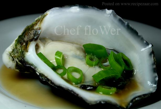 Oysters With Soy and Sesame Dressing. Photo by Chef floWer