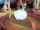 Pumpkin Pie With Ginger Topped Whipped Cream