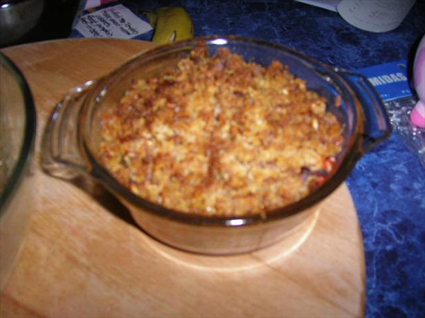 Tomato Crumble Pie. Photo by **Mandy**