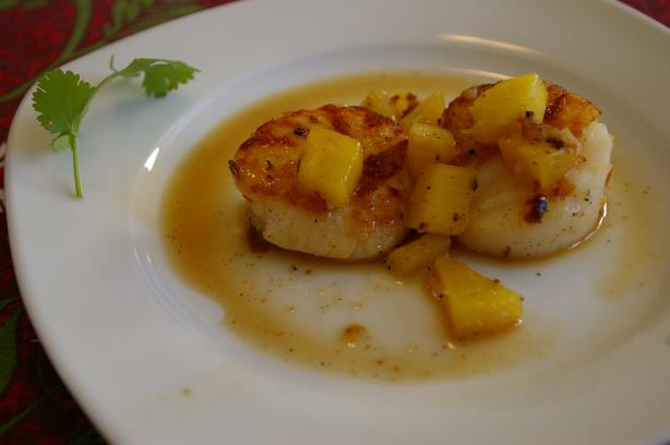Seared Scallops With Pineapple. Photo by Lazarus