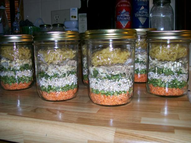 Minestrone Soup Gift Mix in a Jar. Photo by luvcook'n