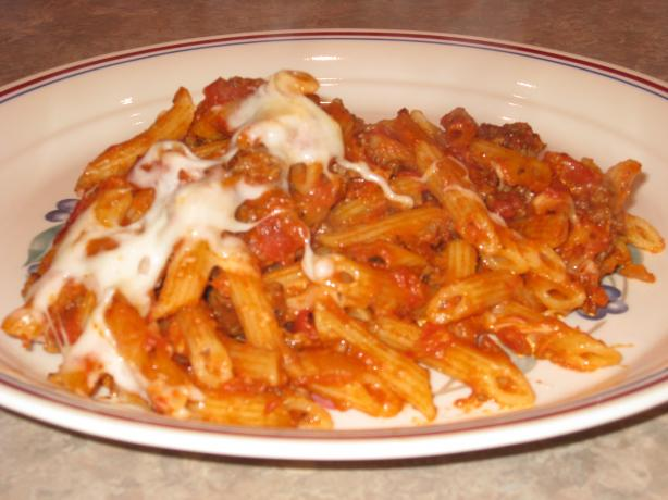 Baked Penne With Ground Beef and Tomato Sauce. Photo by FrenchBunny
