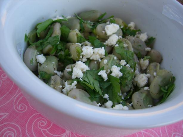 Low Fat Fava Beans With Parsley and Feta. Photo by Chef*Lee