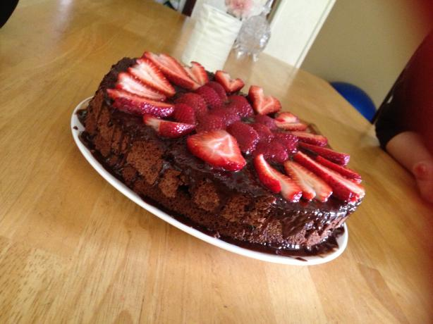 Mom's Chocolate Chiffon Cake. Photo by bigfeetster
