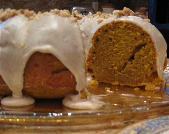 Pumpkin Pound Cake With Cinnamon Glaze. Photo by Kathy at Food.com