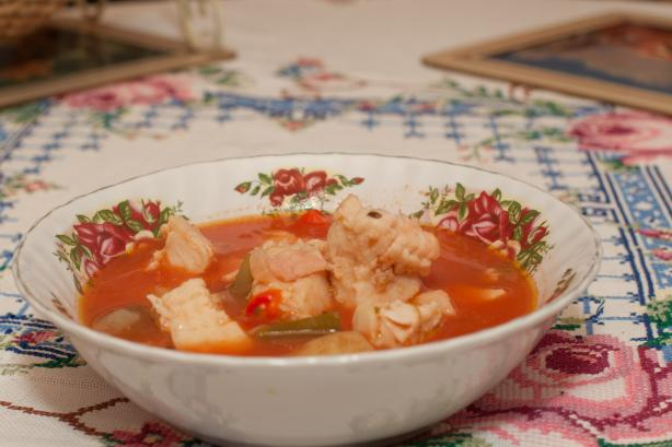 Fish Soup/Stew With Vegetables. Photo by Peter J