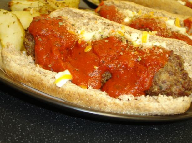 Ooey-Gooey Meatball Submarine Sandwich. Photo by Sarah_Jayne