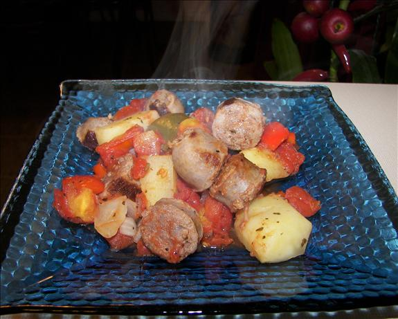 Italian Sausage and Potato Casserole. Photo by Baby Kato