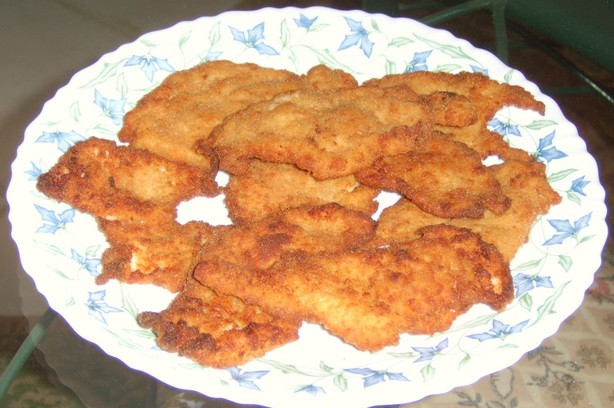 Egyptian Chicken Panne (Breaded Fried Chicken Breasts). Photo by cooking in cairo...