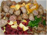 Auberge Cranberry and Sausage Stuffing With Chestnuts and Orange