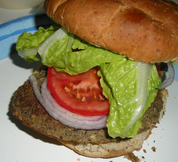 Spicy Black Bean and Lentil Burgers. Photo by Teddy's Mommy