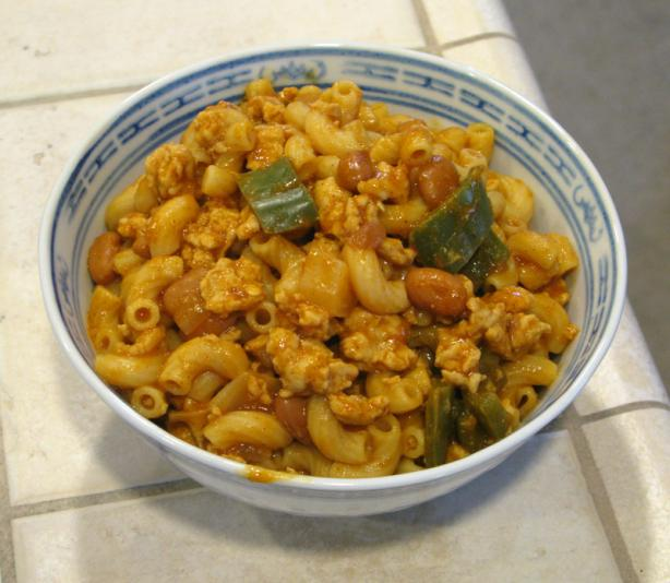 Turkey-Chili Mac. Photo by Pasty Cornish