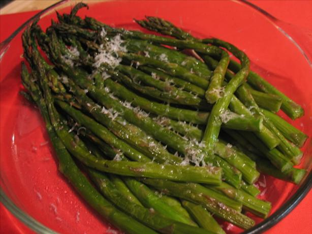 Barefoot Contessa's Parmesan Roasted Asparagus. Photo by Redsie