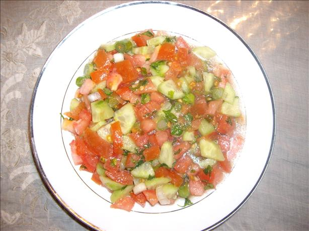 Tomato Salad (Arabic Salad). Photo by Hommus