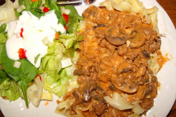 Weight Watchers Beef Stroganoff. Photo by Southern Lady