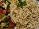 Linguine and Smoked Chicken With Mustard