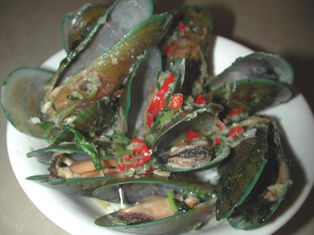 Steamed Mussels With Chilli and Coriander. Photo by Chef floWer