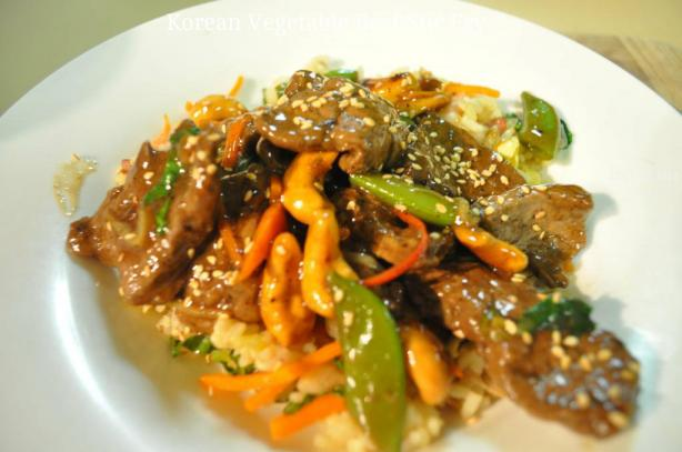 Korean Vegetable-Beef Stir Fry. Photo by I'mPat
