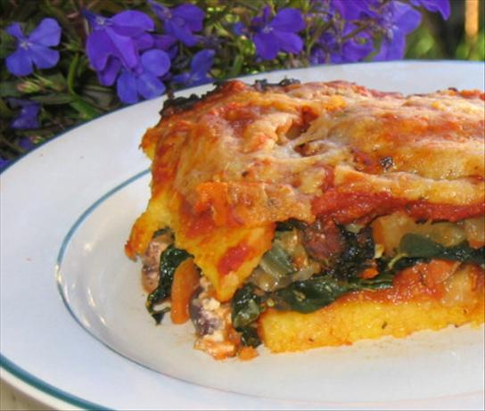 Polenta Lasagna With Feta and Kale. Photo by What's Cooking?